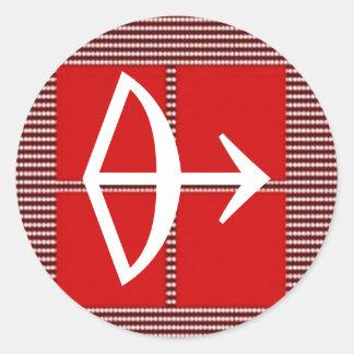 Astrologie de Sagittaire de flèche de ZODIAQUE Autocollant Rond