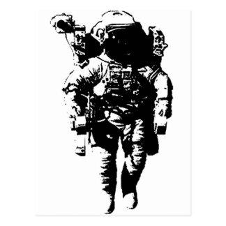 Astronaute dans l'espace carte postale