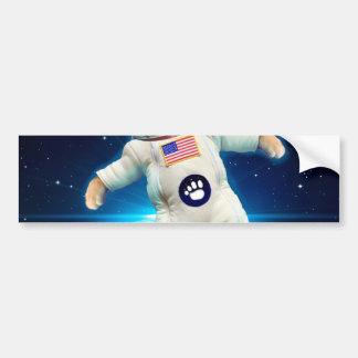 Astronaute de chat - chat de l'espace - amoureux autocollant pour voiture