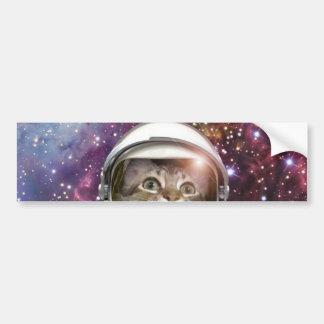 Astronaute de chat - chat fou - chat autocollant pour voiture