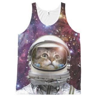Astronaute de chat - chat fou - chat débardeur tout-imprimé