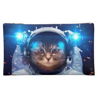 Astronaute de chat - chats dans l'espace - moyenne trousse de maquillage