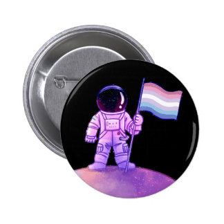 Astronaute de fierté [Bigender] Badge