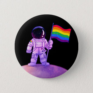 Astronaute de fierté [gai] badge