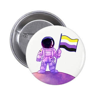 Astronaute de fierté [Nonbinary] Badge