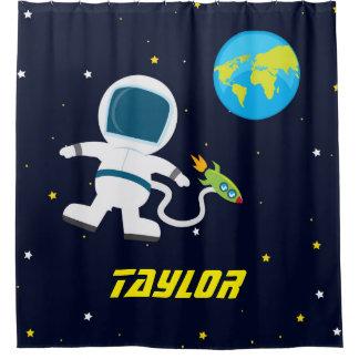Astronaute d'espace extra-atmosphérique, rideau en