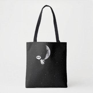 Astronaute drôle et la lune sac