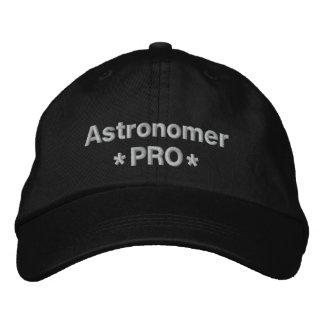 Astronome pro casquette brodée