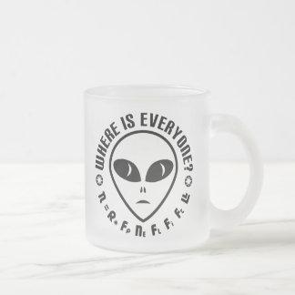 Astronomie de geek de paradoxe de Fermi d'équation Mug En Verre Givré
