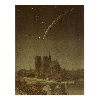 Astronomie vintage, comète de Donati au-dessus de Cartes Postales