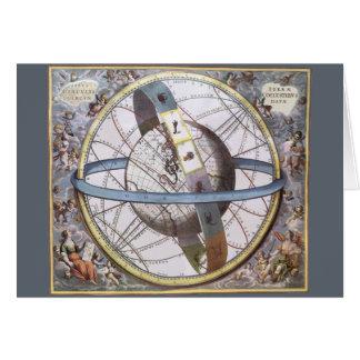 Astronomie vintage, zodiaque céleste de cartes