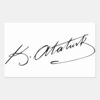 Ataturk Sticker Rectangulaire