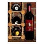 ATC de bouteilles de vin Carte De Visite Grand Format