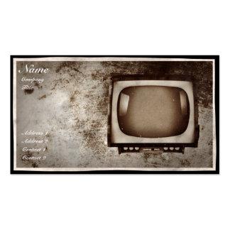 Atelier de réparations grunge de TV - carte de vis Carte De Visite Standard