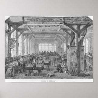 Atelier des fabricants de pianos de Pleyel Affiches