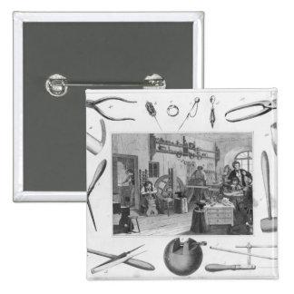 Atelier et outils principaux des bijoux, 1810 badge