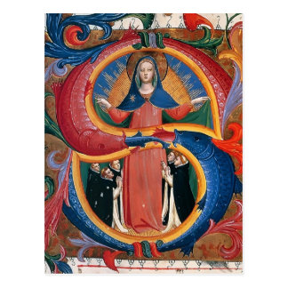 ATF Angelico : Madonna de la pitié avec les moines Carte Postale