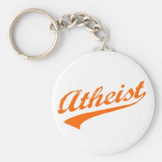 Athée vintage porte-clé rond
