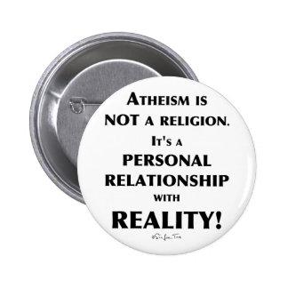 Athéisme et réalité badge rond 5 cm