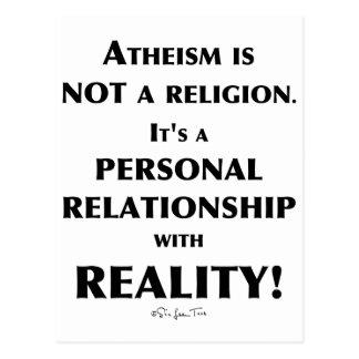 Athéisme et réalité carte postale