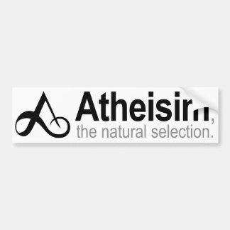 Athéisme la sélection naturelle autocollant pour voiture