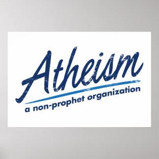 Athéisme une organisation de non-prophète posters