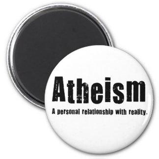 Athéisme. Une relation personnelle avec la réalité Magnet Rond 8 Cm