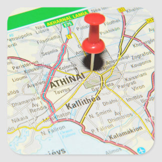 Athènes, Grèce Sticker Carré