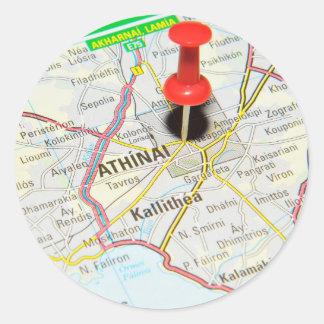 Athènes, Grèce Sticker Rond