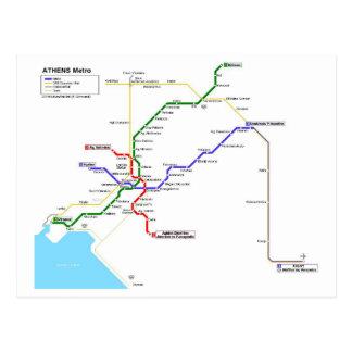 Athens métro carte postale