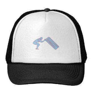 Athlète de forme physique refoulant le dessin de casquette