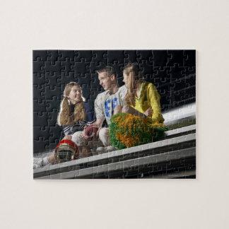 Athlètes sur des blanchisseurs puzzle