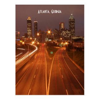 Atlanta la Géorgie à la carte postale de