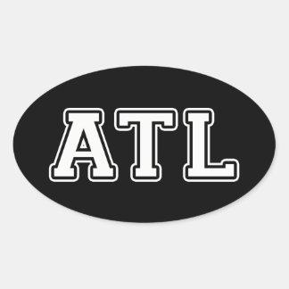 Atlanta la Géorgie Sticker Ovale