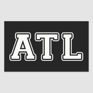 Atlanta la Géorgie Sticker Rectangulaire