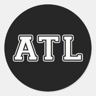 Atlanta la Géorgie Sticker Rond