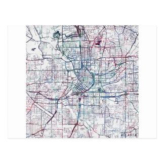 atlanta map painting carte postale