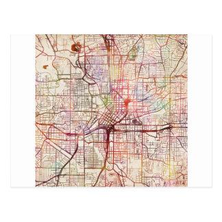 atlanta map painting cartes postales