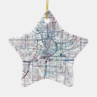 atlanta map painting ornement étoile en céramique