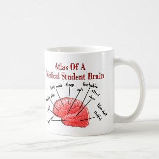 Atlas de cerveau d'étudiant en médecine mug blanc