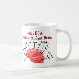 Atlas de cerveau d'étudiant en médecine tasse