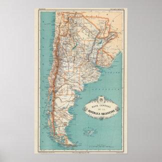 Atlas de l'Argentine Posters