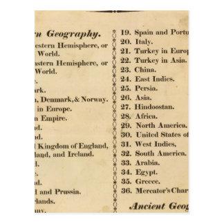 Atlas des syndicats carte postale