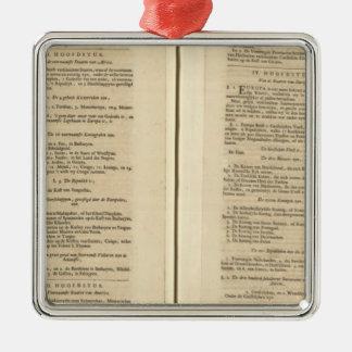 Atlas du monde de page des textes nouvel ornement carré argenté