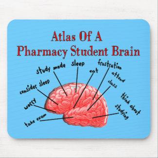 Atlas d'un cerveau d'étudiant de pharmacie tapis de souris