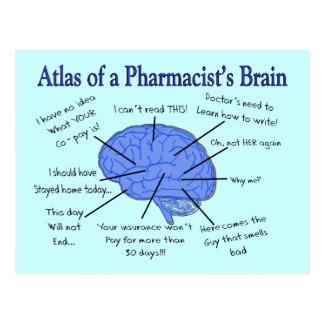 Atlas d'un pharmacien Cerveau-Hilare Carte Postale