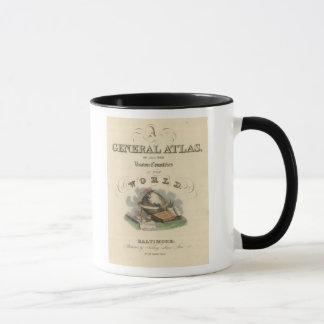 Atlas général de page titre du monde mug