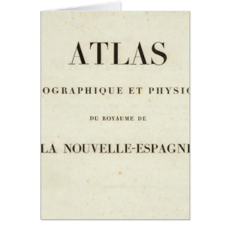 Atlas géographique et physique de demi de titre carte de vœux