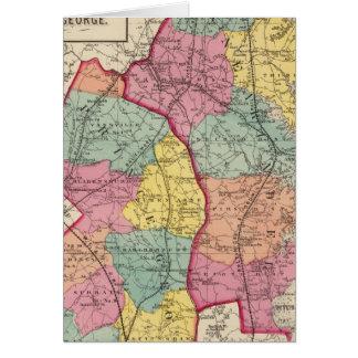 Atlas topographique des comtés 4 du Maryland Carte De Vœux