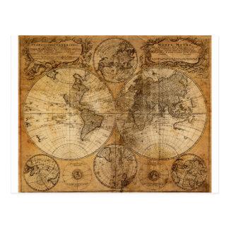 Atlas vintage de carte du monde